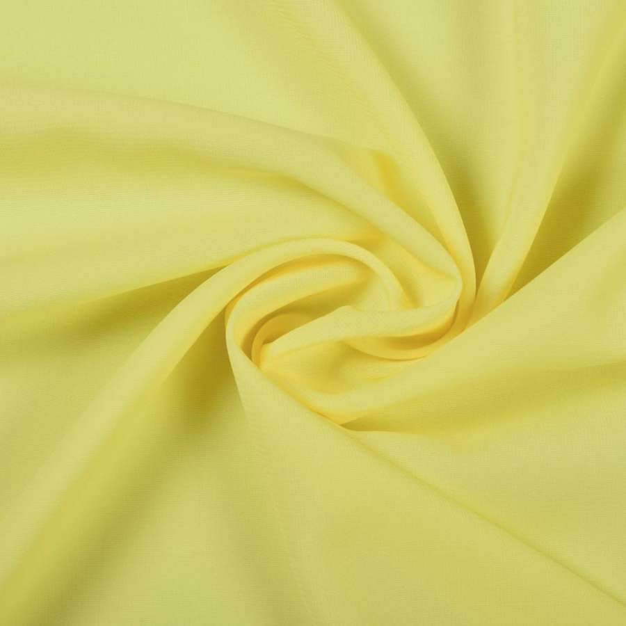 Шифон стрейч желтый яркий ш.150