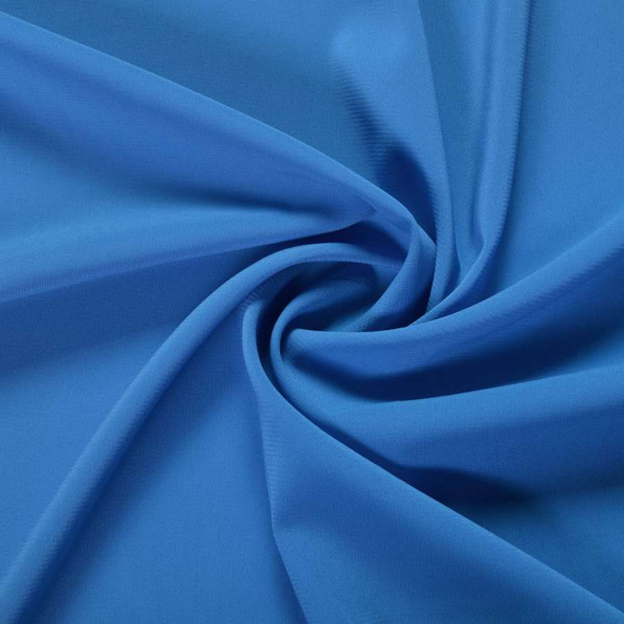 Шифон стрейч синий яркий ш.150