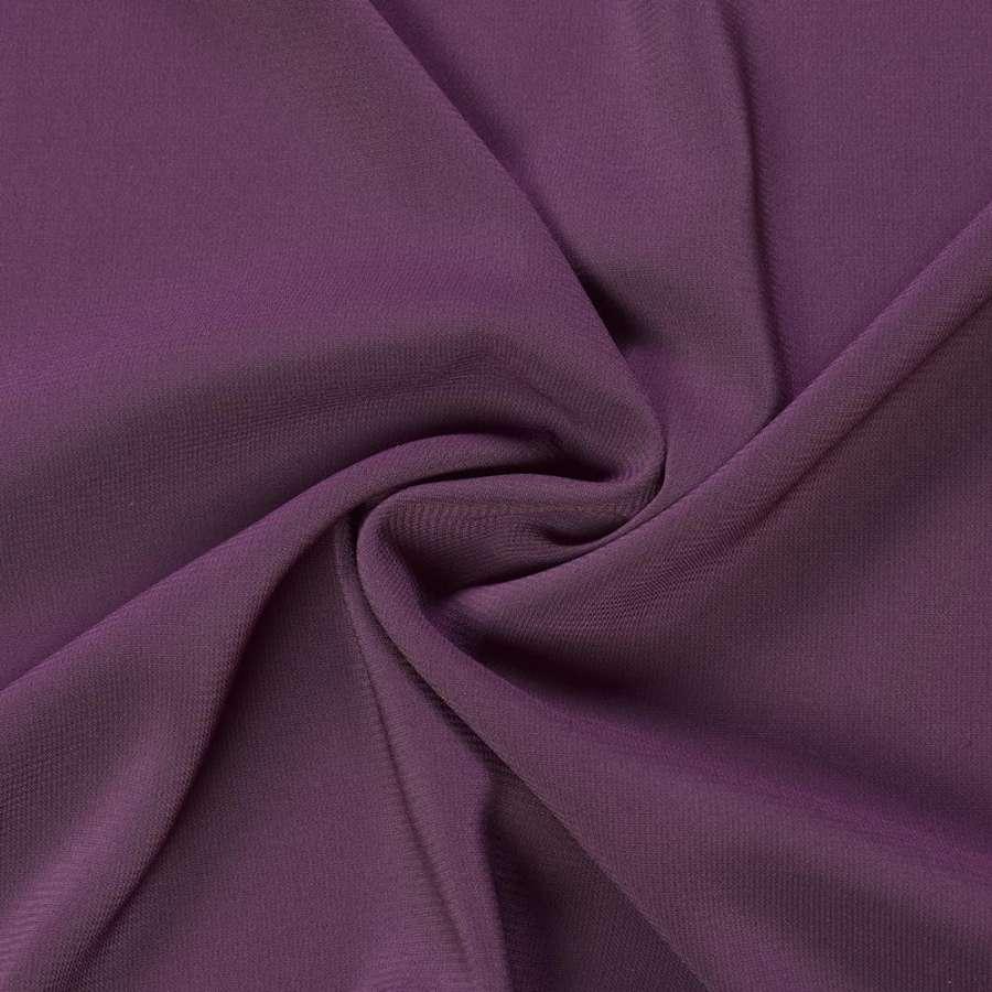 Шифон стрейч фиолетовый темный ш.150