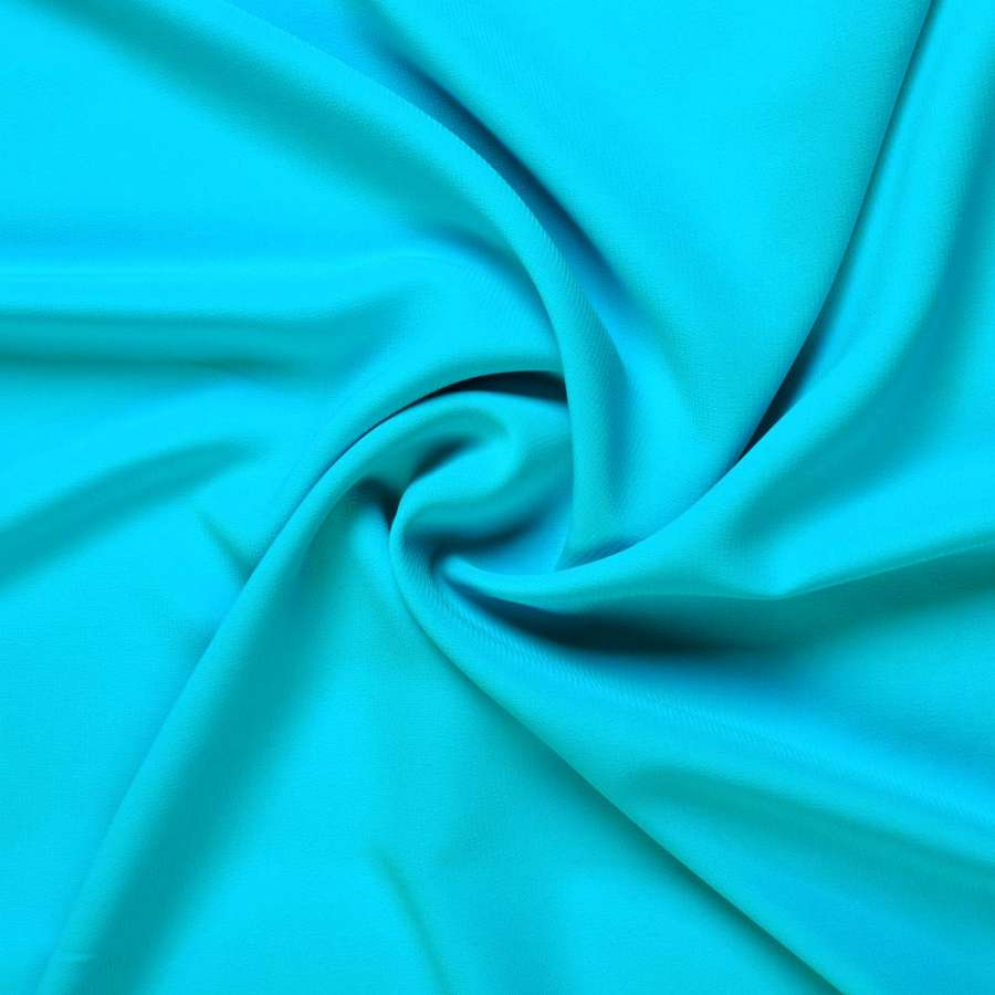 Шифон стрейч бирюзово-голубой ш.150