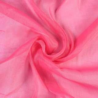 Шифон блискучий жатий малиново-рожевий ш.150