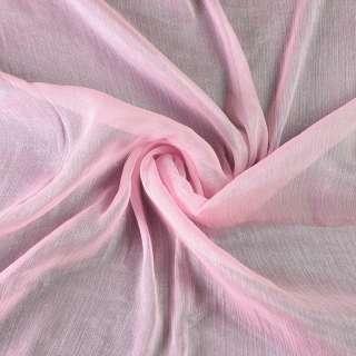 Шифон блискучий жатий рожевий ш.150