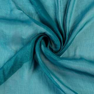 Шифон блискучий жатий синій світлий ш.150