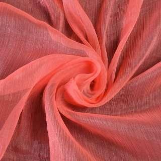 Шифон блискучий жатий яскраво-рожевий ш.150