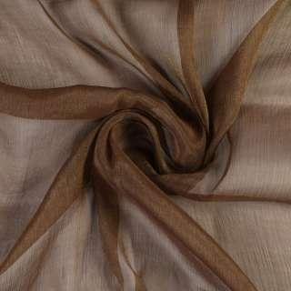 Шифон блискучий жатий коричневий ш.150