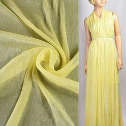 Шифон блестящий жатый желтый ш.150