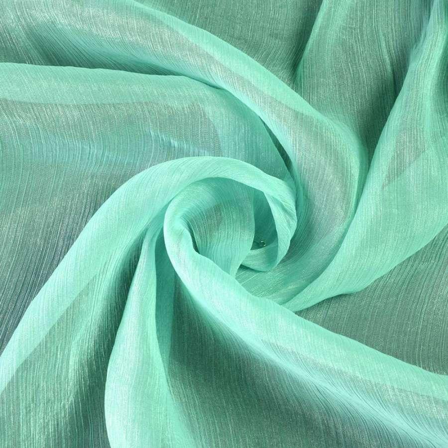 Шифон блестящий жатый бледно-голубой ш.150