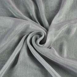 Шифон блестящий жатый серый ш.150