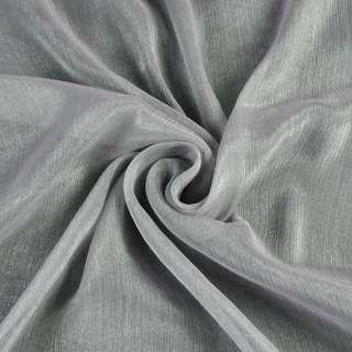 Шифон блискучий жатий сірий ш.150