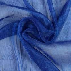 Шифон блестящий жатый синий (оттенок темнее) ш.150