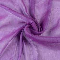 Шифон блестящий жатый фиолетовый светлый ш.150