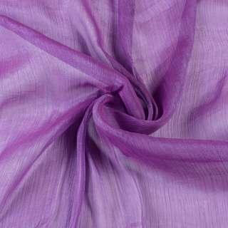 Шифон блискучий жатий фіолетовий світлий ш.150