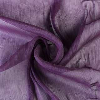 Шифон блискучий жатий фіолетовий темний ш.150