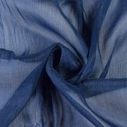 Шифон блискучий жатий синій темний ш.150