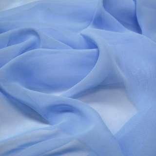 Шифон голубой с синим оттенком ш.150