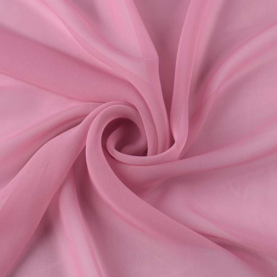Шифон серо-розовый ш.150