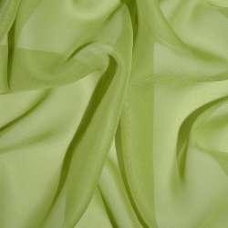Шифон зеленый грушевый ш.150