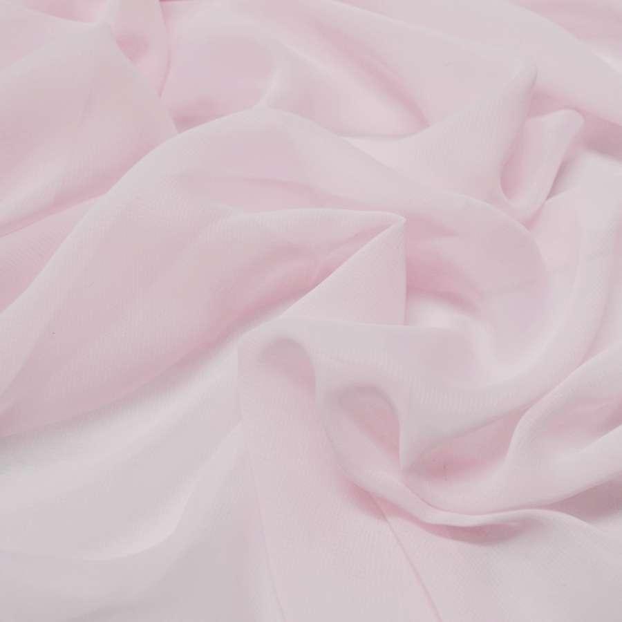 Шифон розовый молочний ш.150