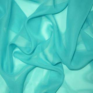 Шифон бирюзово-голубой ш.150
