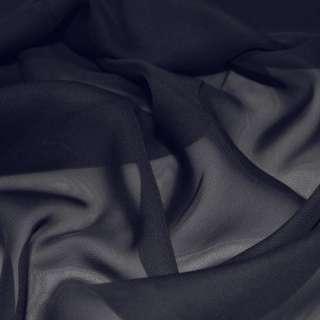 Шифон синий темный ш.150