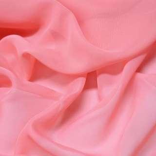 Шифон розово-коралловый ш.150