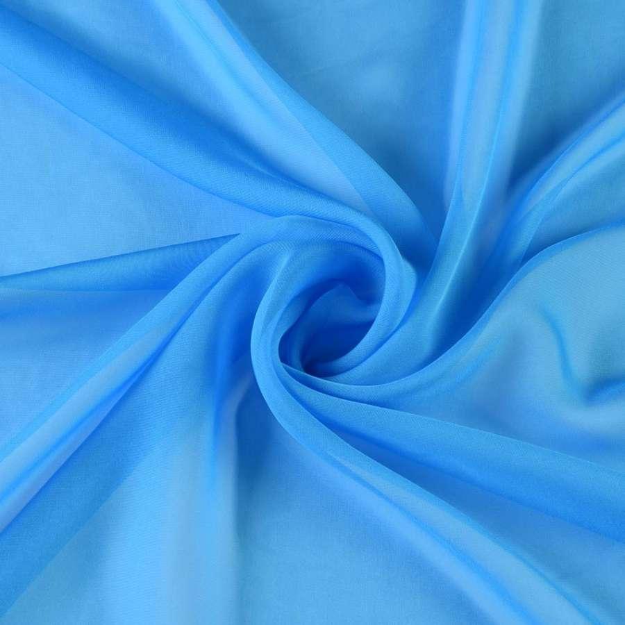 Шифон диллон голубой насыщенный ш.150