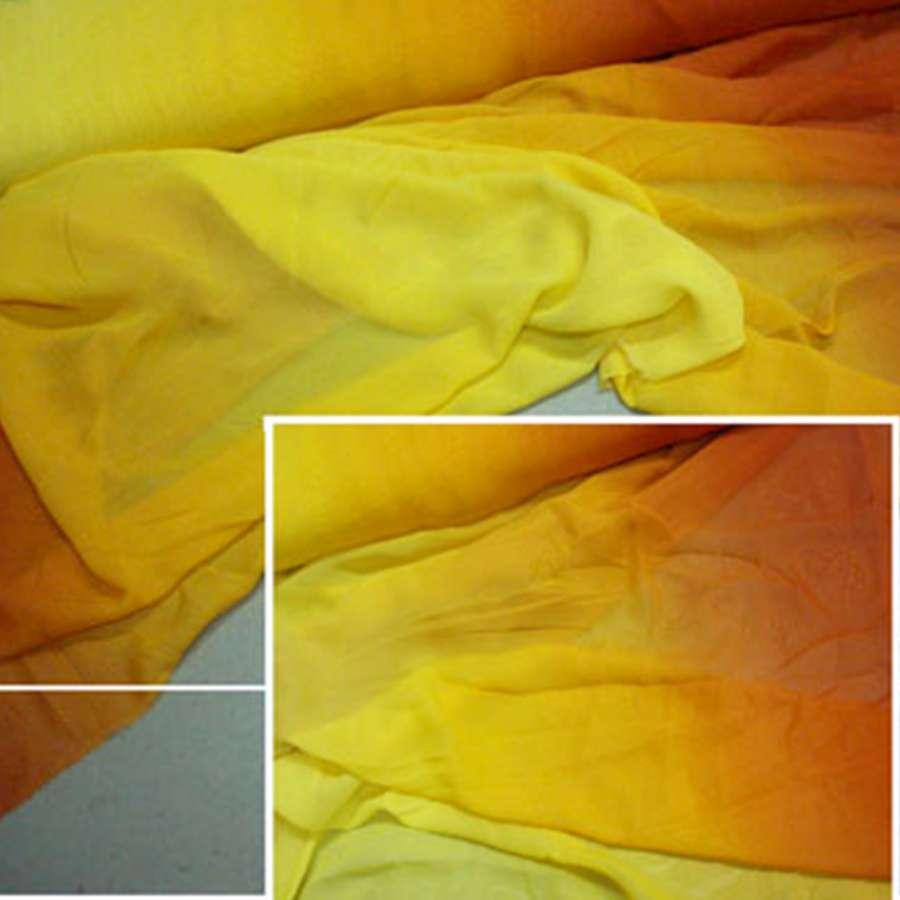 Шифон желто-оранжевый карнавал ш.150