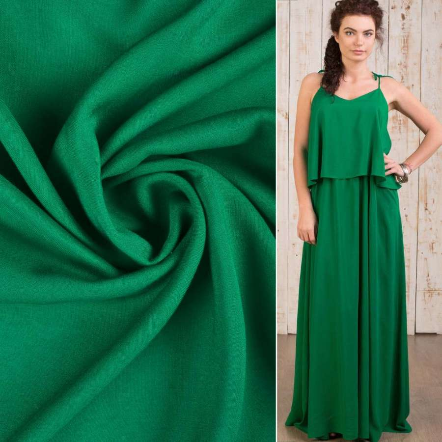 Штапель зеленый темный ш.145