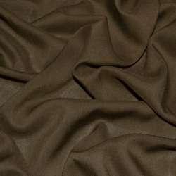 Штапель коричневый (оттенок темнее) ш.140