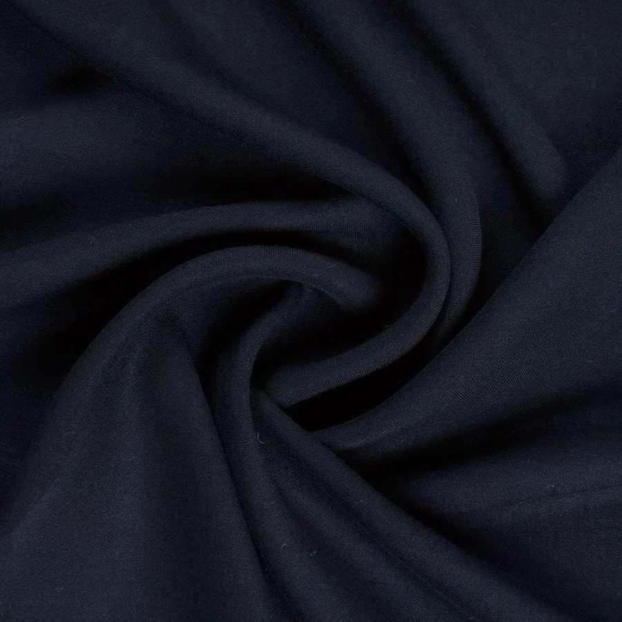 Штапель синий темный с черным оттенком ш.140