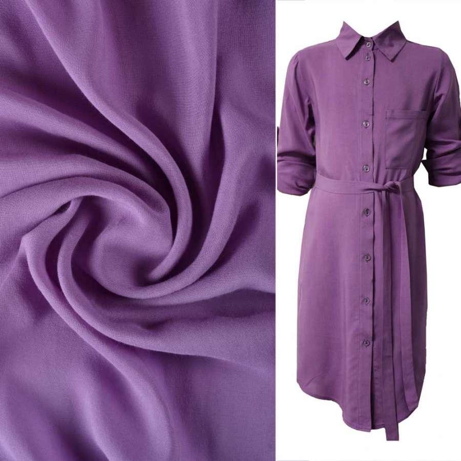 Штапель фиолетовый светлый ш.140