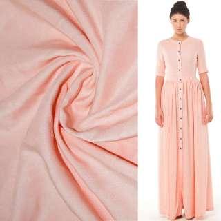 Штапель розово персиковый ш.140