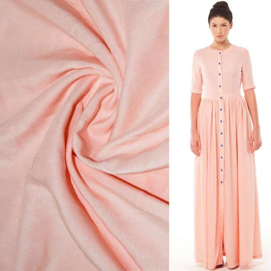 Штапель розово-персиковый ш.140