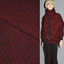 Шерсть пальтовая в елочку красно-черная ш.150 см