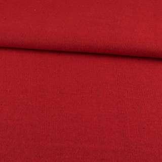Рогожка пальтовая с шерстью красная, ш.155