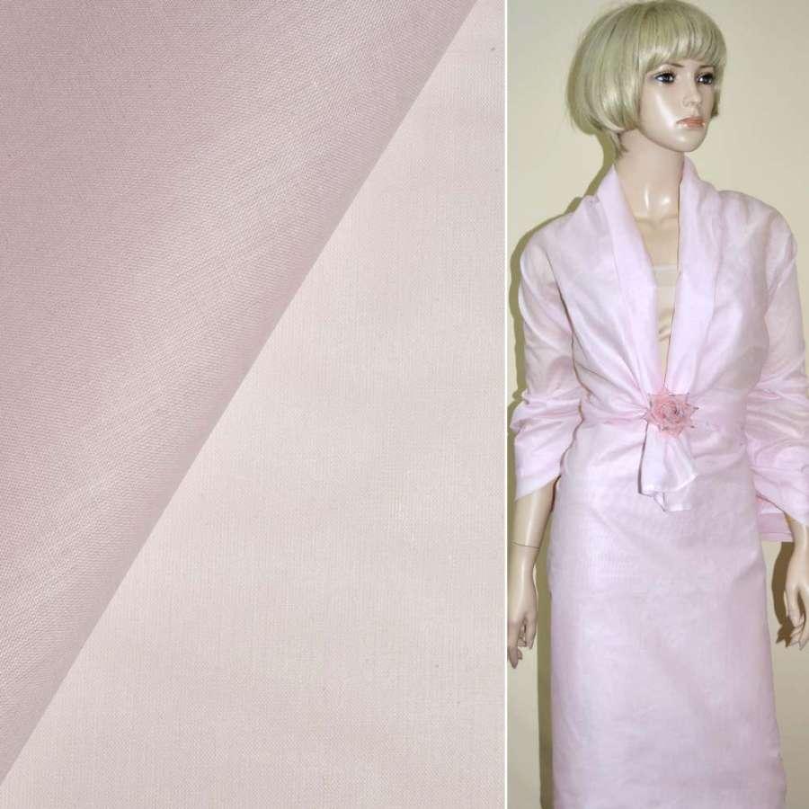 Батист бледно-розовый ш.135