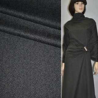 """Велюр костюмний сірий темний """"ялинка"""", ш.145"""
