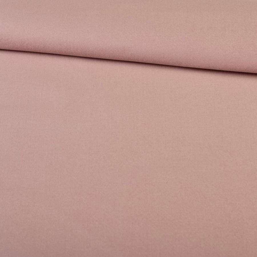 Велюр стрейч розовый с бежевым оттенком, ш.145