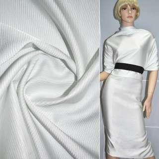 Ткань костюмная репс виск. белая