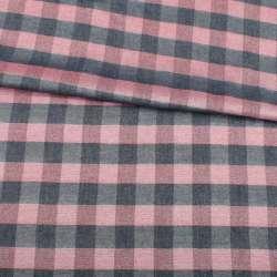 Віскоза в червоно-синю клітку з сріблястою метанітью, ш.140