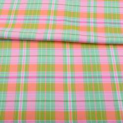 Віскоза в рожево-зелено-помаранчеву клітку, ш.143
