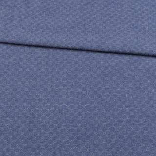 Джинс жаккардовый синий ш.150
