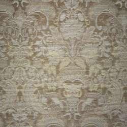 Жаккард светло-коричневый с серебристыми цветами