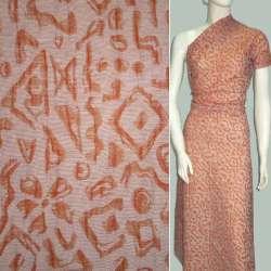 Жаккард костюмный оранжевый