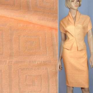 Жаккард костюмний помаранчевий