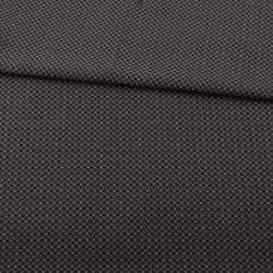 Жаккард стрейч чорний в коричневу точку з метанітью ш.153
