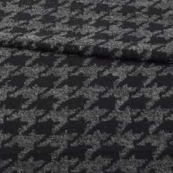 Жаккард чорно-сірий гусяча лапка, ш.160