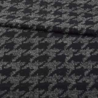 Жаккард черно-серый гусиная лапка, ш.160