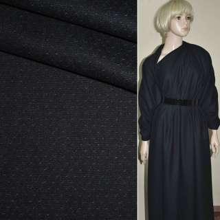 Ткань костюмная сине-черная в мелкие точки Германия ш.155