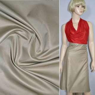 Ткань костюмная светло-бежевая, ш.150